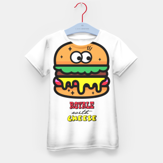 Thumbnail image of Royale with cheese Kid's T-shirt, Live Heroes