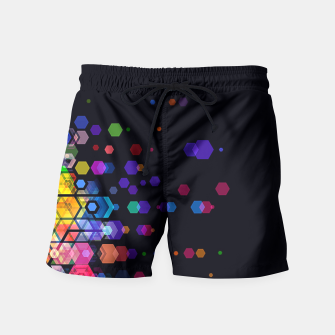 Thumbnail image of Monstrously Colorful Elementary Particles Swim Shorts, Live Heroes