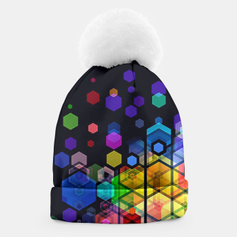 Thumbnail image of Monstrously Colorful Elementary Particles Beanie, Live Heroes