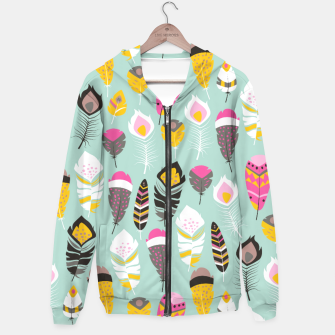Thumbnail image of Tribal feather 002 Hoodie, Live Heroes