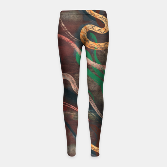 Miniature de image de Snake me more Girl's Leggings, Live Heroes