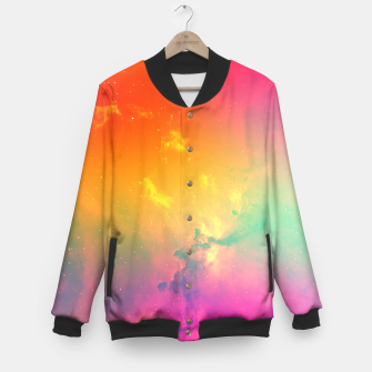 Thumbnail image of Rainbow galaxy Baseball Jacket, Live Heroes