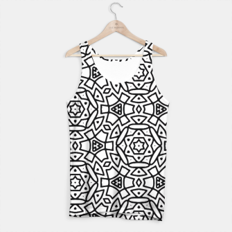 Thumbnail image of Black and White Pattern Tank Top, Live Heroes