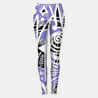 Thumbnail image of Chalk Board (Blue) Leggings, Live Heroes