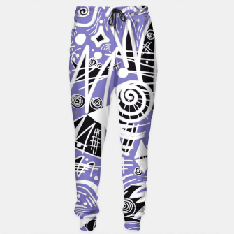 Thumbnail image of Chalk Board (Blue) Sweatpants, Live Heroes