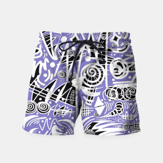 Thumbnail image of Chalk Board (Blue) Swim Shorts, Live Heroes