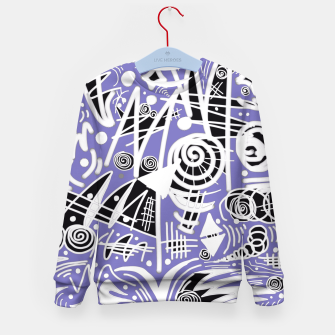 Thumbnail image of Chalk Board (Blue) Kid's Sweater, Live Heroes
