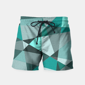 Thumbnail image of Collaged Swim Shorts, Live Heroes