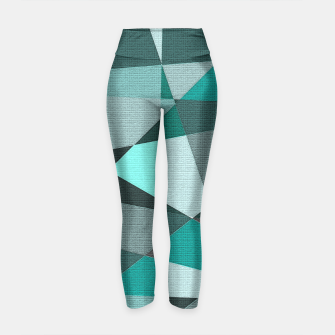 Thumbnail image of Collaged Yoga Pants, Live Heroes
