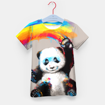 Thumbnail image of Giant Painter Kid's T-shirt, Live Heroes