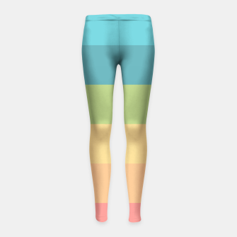 Thumbnail image of Colored Girl's Leggings, Live Heroes