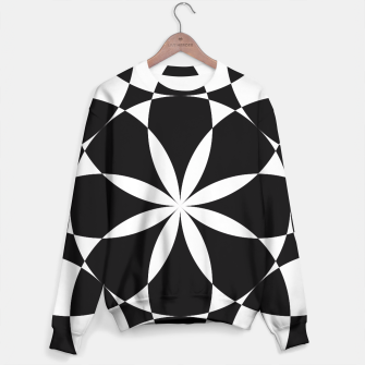 Black and white flower mandala mosaic Sweater thumbnail image