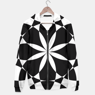 Black and white flower mandala mosaic Hoodie thumbnail image