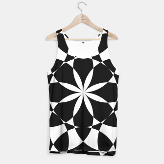 Black and white flower mandala mosaic Tank Top thumbnail image