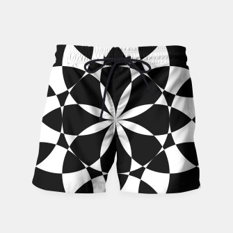 Black and white flower mandala mosaic Swim Shorts thumbnail image