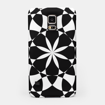 Black and white flower mandala mosaic Samsung Case thumbnail image