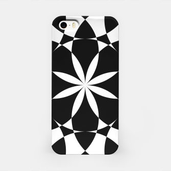 Black and white flower mandala mosaic iPhone Case thumbnail image