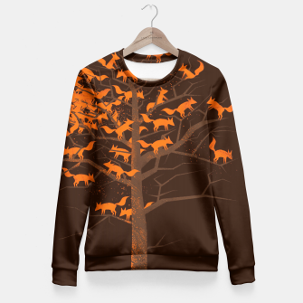 Thumbnail image of Blazing Fox Tree Fitted Waist Sweater, Live Heroes