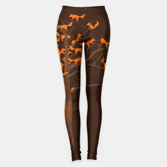 Thumbnail image of Blazing Fox Tree Leggings, Live Heroes