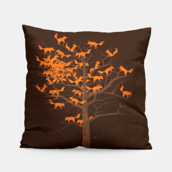 Thumbnail image of Blazing Fox Tree Pillow, Live Heroes