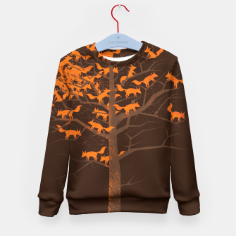 Thumbnail image of Blazing Fox Tree Kid's Sweater, Live Heroes