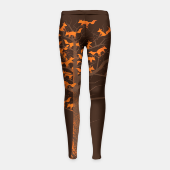 Miniature de image de Blazing Fox Tree Girl's Leggings, Live Heroes