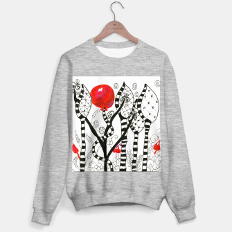 Thumbnail image of Pop of Color, Red Balloon Zendoodle in Fanciful Forest Sweater regular, Live Heroes