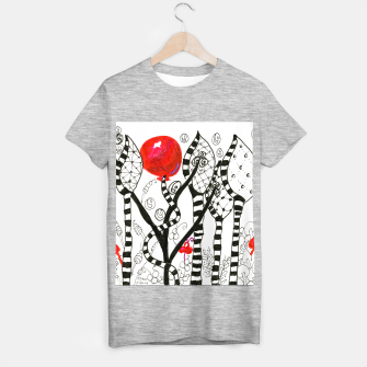 Thumbnail image of Pop of Color, Red Balloon Zendoodle in Fanciful Forest T-shirt regular, Live Heroes