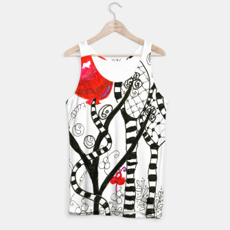 Thumbnail image of Pop of Color, Red Balloon Zendoodle in Fanciful Forest Tank Top, Live Heroes