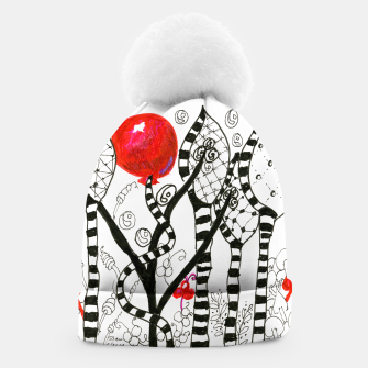 Thumbnail image of Pop of Color, Red Balloon Zendoodle in Fanciful Forest Beanie, Live Heroes