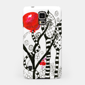Thumbnail image of Pop of Color, Red Balloon Zendoodle in Fanciful Forest Samsung Case, Live Heroes