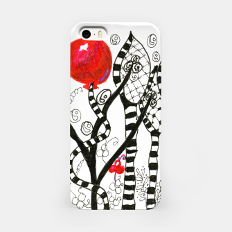 Thumbnail image of Pop of Color, Red Balloon Zendoodle in Fanciful Forest iPhone Case, Live Heroes