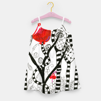 Thumbnail image of Pop of Color, Red Balloon Zendoodle in Fanciful Forest Girl's Dress, Live Heroes