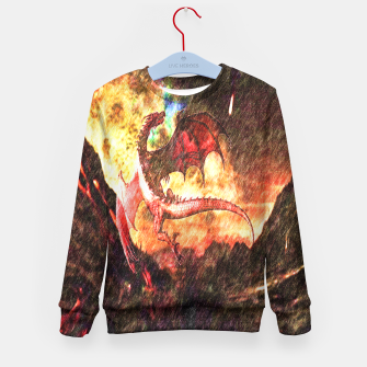 Thumbnail image of Dragon's fire Kid's Sweater, Live Heroes