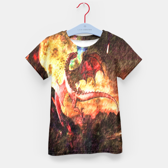 Thumbnail image of Dragon's fire Kid's T-shirt, Live Heroes
