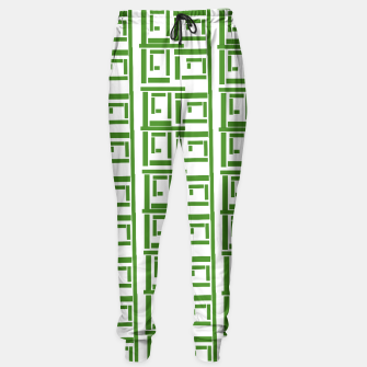 Thumbnail image of Rectangular White  Sweatpants, Live Heroes