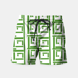 Thumbnail image of Rectangular White  Swim Shorts, Live Heroes