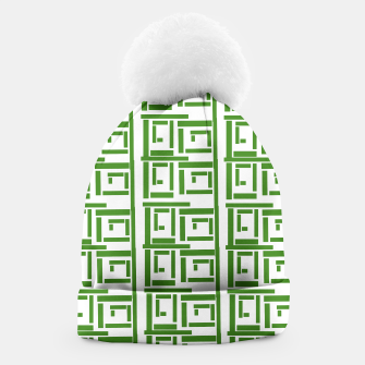 Thumbnail image of Rectangular White  Beanie, Live Heroes