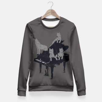 Thumbnail image of Wolf Gang Fitted Waist Sweater, Live Heroes