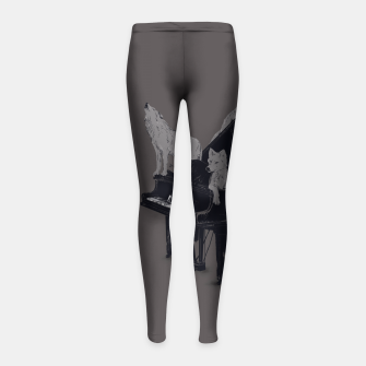 Miniature de image de Wolf Gang Girl's Leggings, Live Heroes
