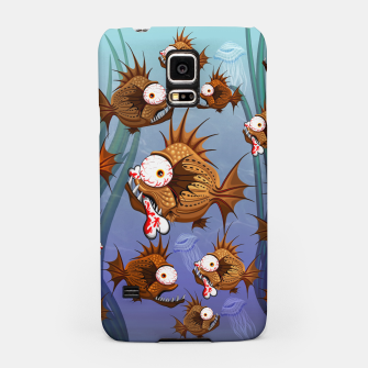 Psycho Fish Piranha with Bloody Bone Samsung Case thumbnail image
