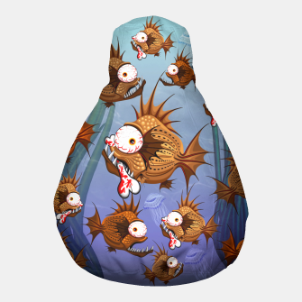 Thumbnail image of Psycho Fish Piranha with Bloody Bone Pouf, Live Heroes