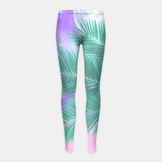 Thumbnail image of Palm Fronds Girl's Leggings, Live Heroes