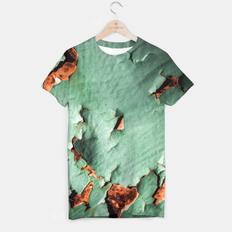 Cool turquoise brown rusty metal  T-shirt thumbnail image