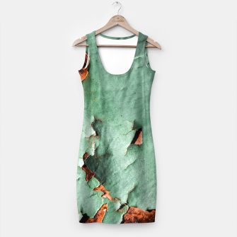 Cool turquoise brown rusty metal  Simple Dress thumbnail image