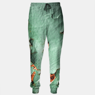 Cool turquoise brown rusty metal  Sweatpants thumbnail image