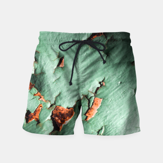 Cool turquoise brown rusty metal  Swim Shorts thumbnail image