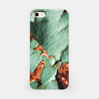 Cool turquoise brown rusty metal  iPhone Case thumbnail image