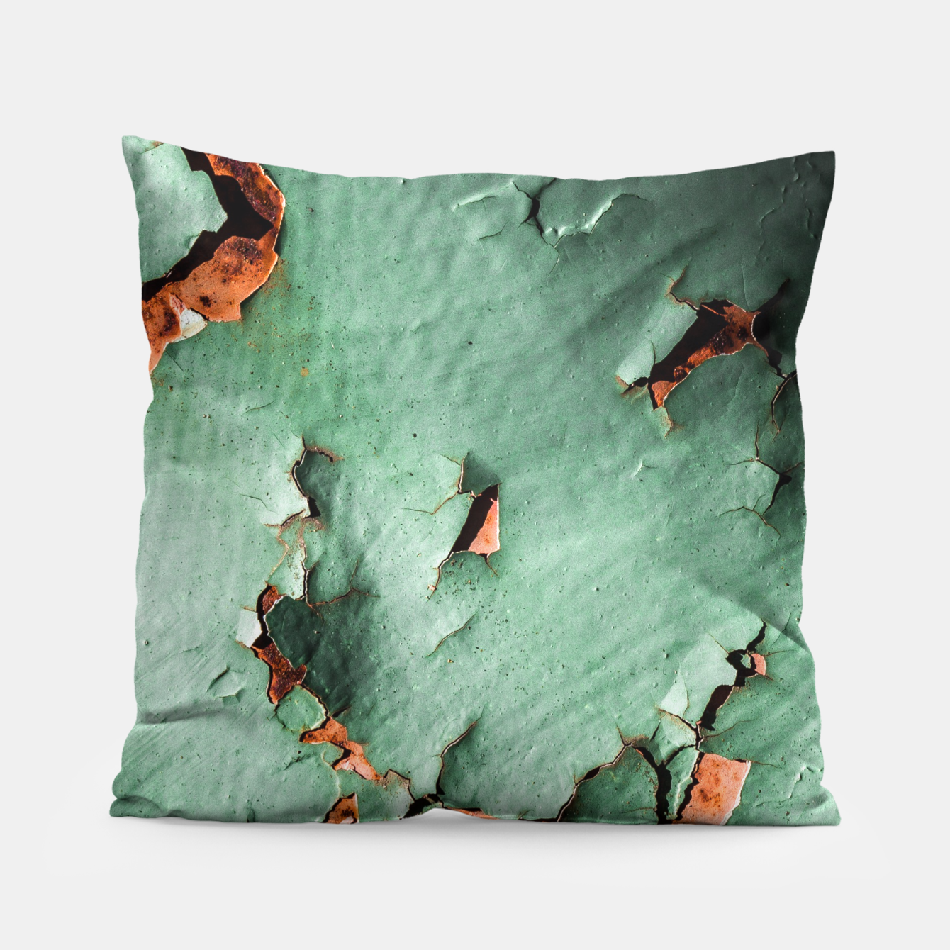 Image of Cool turquoise brown rusty metal  Pillow - Live Heroes