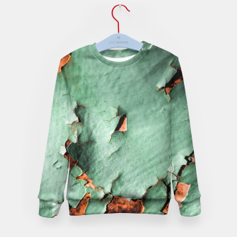 Cool turquoise brown rusty metal  Kid's Sweater thumbnail image